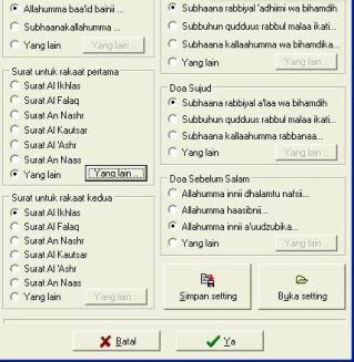 Sofware Simulasi Sholat dan Dzikir